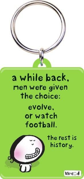 A While Back, men Were Given A Choice (Vimrod) funny keyring (hb)