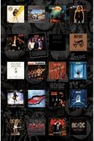 AC/DC Albums large fabric poster / flag 1100mm x 750mm (rz)