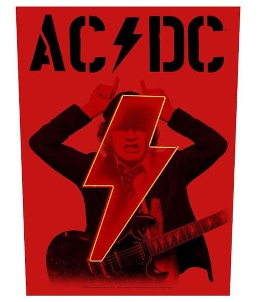 AC/DC Pwr/Up Angus large sew-on cloth backpatch 360mm x 300mm (rz)
