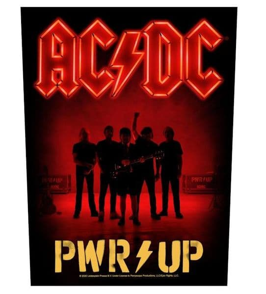 AC/DC Pwr/Up Band large sew-on cloth backpatch 360mm x 300mm (rz)
