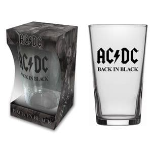 ACDC Back In Black  Pint/ Beer Glass (rz)