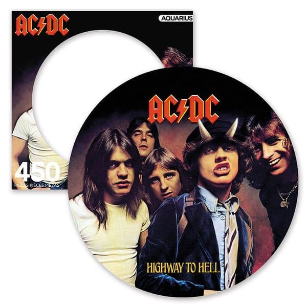 ACDC Highway to Hell 450 piece round disc jigsaw puzzle 305mm x 305mm (nm)