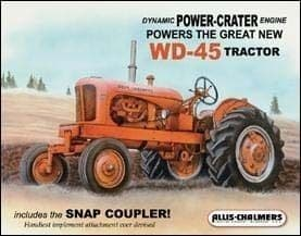 Allis Chalmers WD45 Tractor Metal Sign