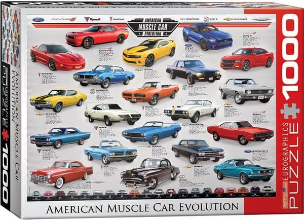 American Muscle Car Evolution 1000 piece jigsaw puzzle 680mm x 490mm  (pz)