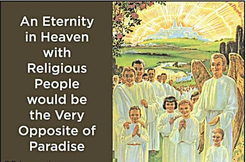 An Eternity In Heaven With Religious People.. funny fridge magnet (ep)