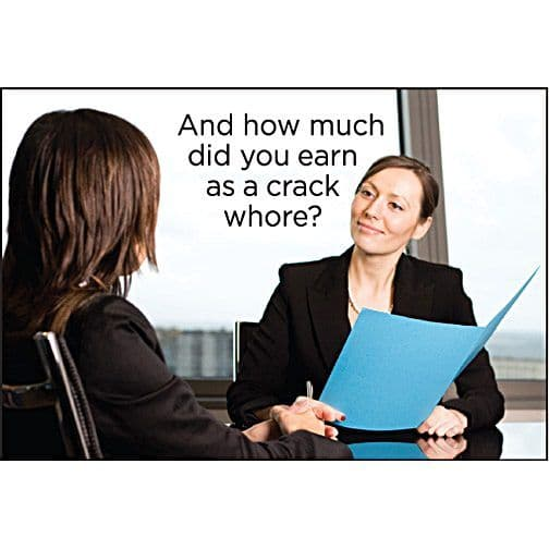 And How Much Did You Earn As A Crack Whore? funny fridge magnet (ep)