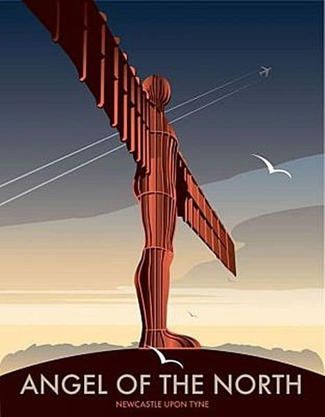 Angel Of The North by Dave Thompson fridge magnet (se)