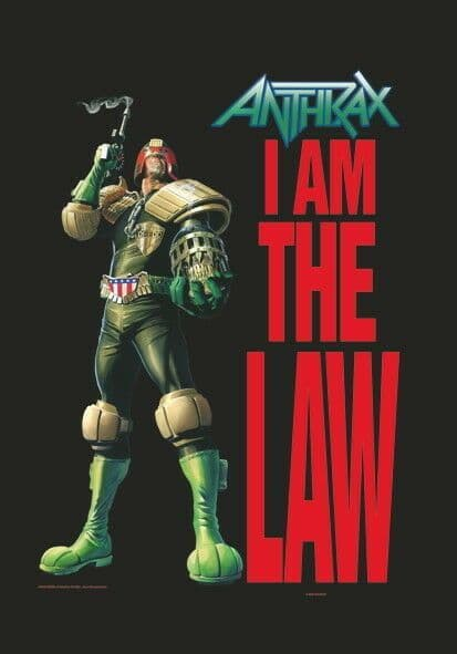 Anthrax I Am The Law Large Fabric Poster/Flag 1050mm x 750mm (hr)