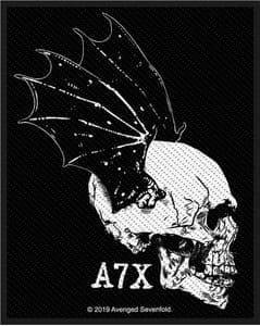 Avenged Sevenfold A7X Skull Profile  sew-on cloth patch 100mm x 75mm   (rz)