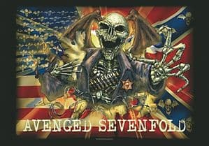 Avenged Sevenfold  large fabric poster / flag 1100mm x 750mm (hr)
