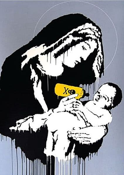 Banksy Baby Poison metal sign   200mm x 140mm  (2f)