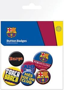 Barcelona 6 Pin Badges in Pack (ge)