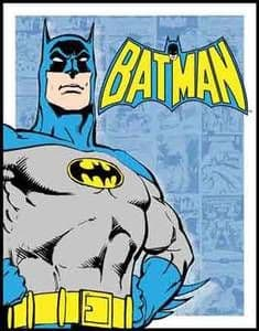 Batman steel sign (blue bgrd)