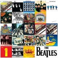 Beatles Chronology of LP Covers Metal Sign (ro)