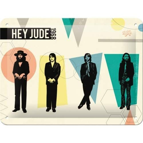 Beatles Hey Jude small metal sign 200mm x 150mm (na)
