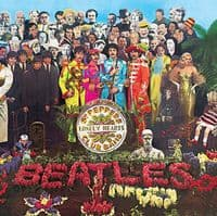 Beatles Sgt. Pepper LP cover steel wall sign  300mm x 300mm   (ro)