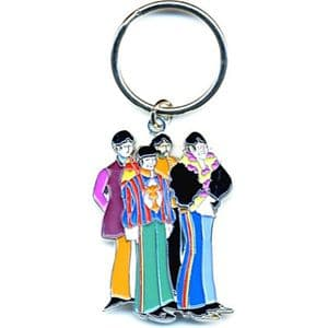Beatles Yellow Submarine Cartoon Band metal keyring (ro)
