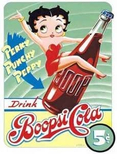Betty Boop ''Boopsi Cola'' steel wall sign