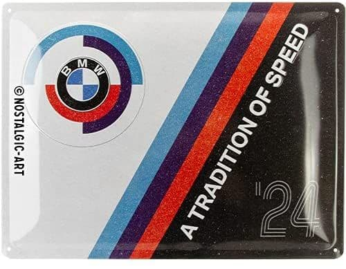 BMW A Tradition of Speed large embossed metal wall sign 400mm x 300mm(na)