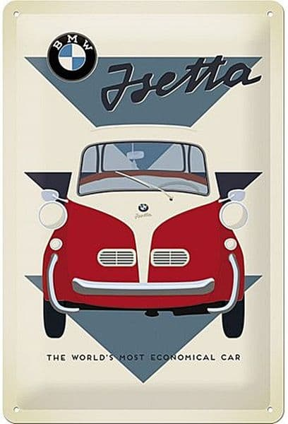 BMW Isetta World's Most Economical...  embossed metal sign  300mm x 200mm (na)