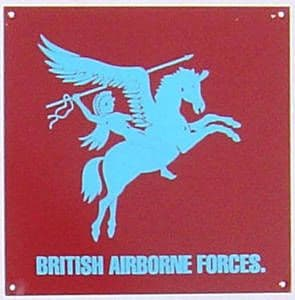 British Airborne Forces enamelled steel wall sign  (dp)