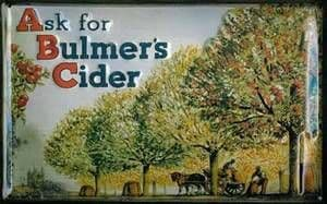 Bulmers Cider ''Ask for'' embossed steel wall sign