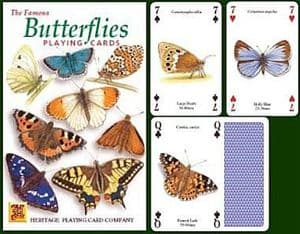Butterflies set of 52 playing cards (+ jokers)    (hpc)