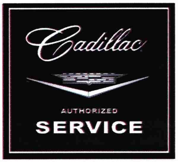 Cadillac Authorised Service metal sign 360mm x 360mm (41)