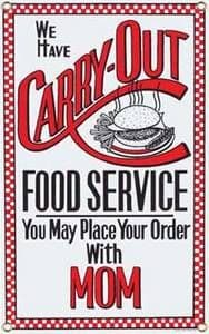 Carry Out Service Steel Fridge Magnet
