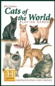 Cats Of The World set of 52 playing cards (+ jokers)    (hpc)