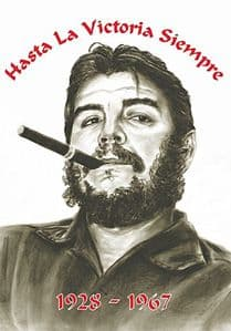 Che Guevara 1928 - 1967  large fabric poster/ flag 1100mm x 750mm  (hr)