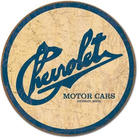 Chevrolet Historic Logo (round) metal wall sign