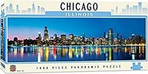 Chicago Illinois 1000 piece panoramic  jigsaw puzzle 990mm x 330mm  (mpc)