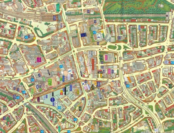 Cityscapes Street Map Of Croydon 400 Piece Jigsaw Puzzle 470mm x 320mm (hpy)