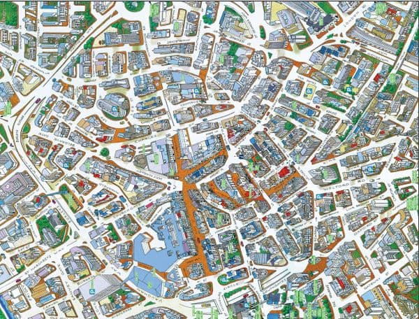 Cityscapes Street Map Of Leicester 400 Piece Jigsaw Puzzle 470mm x 320mm (hpy)