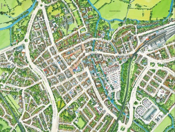 Cityscapes Street Map Of Salisbury 400 Piece Jigsaw Puzzle 470mm x 320mm (hpy)