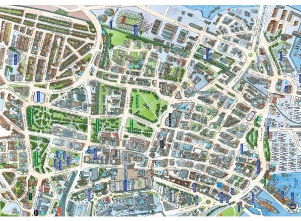Cityscapes Street Map Of  Southampton 400 Piece Jigsaw Puzzle 470mm x 320mm (hpy)