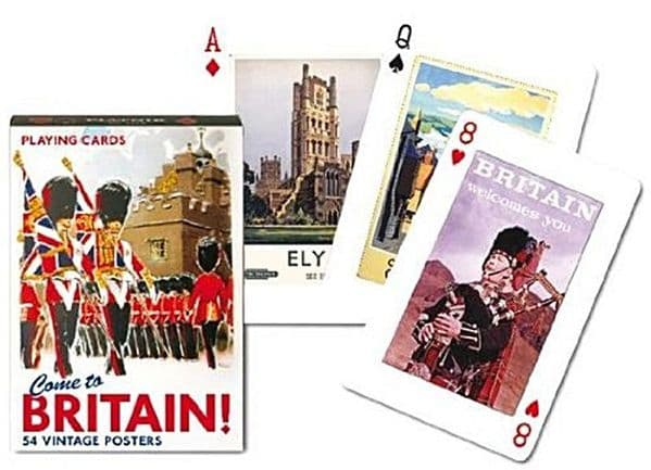 Come To Britain set of playing cards + jokers    (gib)