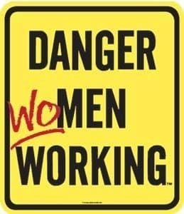 Danger Women Working Steel Fridge Magnet  REDUCED TO £1 !!!!!