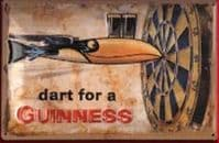 Dart for a Guinness Embossed Metal Sign