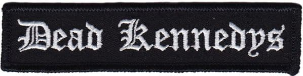 Dead Kennedys Black And White Writing iron-on /  sew-on embroidered patch  (cv)