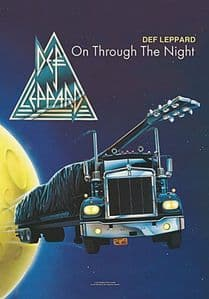 Def Leppard On Through The Night large fabric poster/ flag 1100mm x 750mm  (hr)