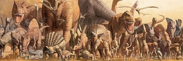Dinosaurs by Haruo Takino 1000 piece panoramic jigsaw puzzle  990mm x 330mm (pz)