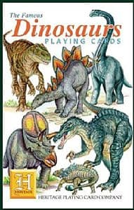 Dinosaurs set of 52 playing cards (+ jokers)    (hpc)