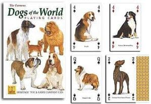 Dogs of the World set of 52 playing cards (+ jokers)    (hpc)