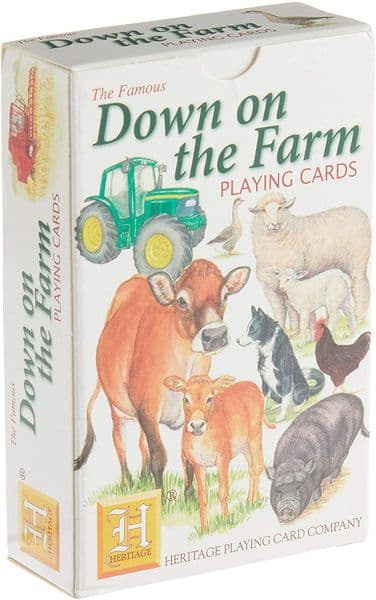Down on the Farm set of 52 playing cards (+ jokers)    (hpc)