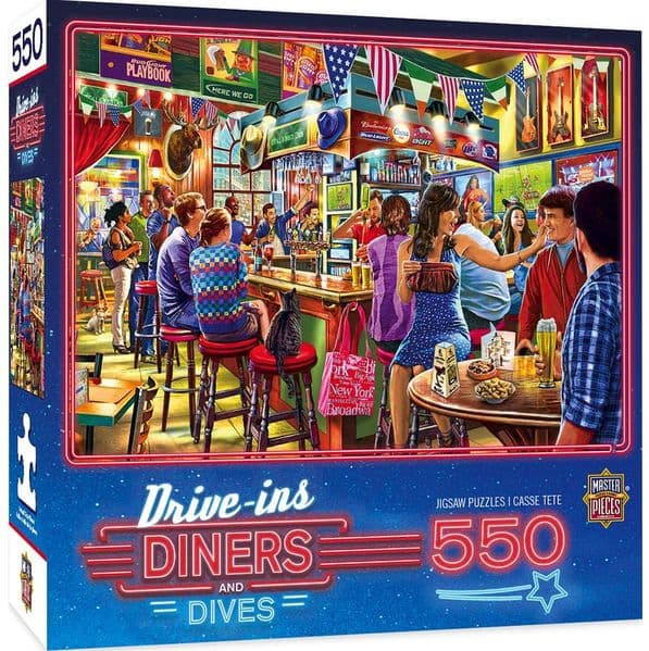Duffy's Sports and Suds 550 piece jigsaw puzzle (+poster!) 610mm x 460mm  (mpc)