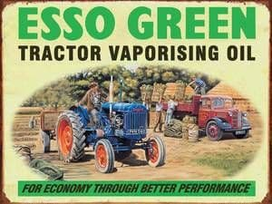 Esso Green / Fordson steel sign 200mm x 150mm
