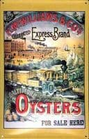 Express Brand Baltimore Oysters embossed steel sign  (hi 3020)
