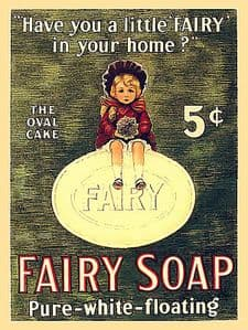 Fairy Soap Have You Had A Little Fairy In Your House? steel sign 300mm x 230mm (ogu)